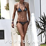 Bikini-clad Doutzen Kroes hit the pool in Miami.