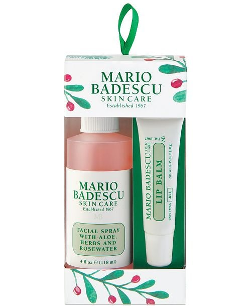 Mario Badescu Two Piece Facial Spray & Lip Balm Ornament Set