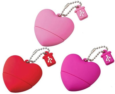 I'd Heart a Heart-Shaped Flash Drive