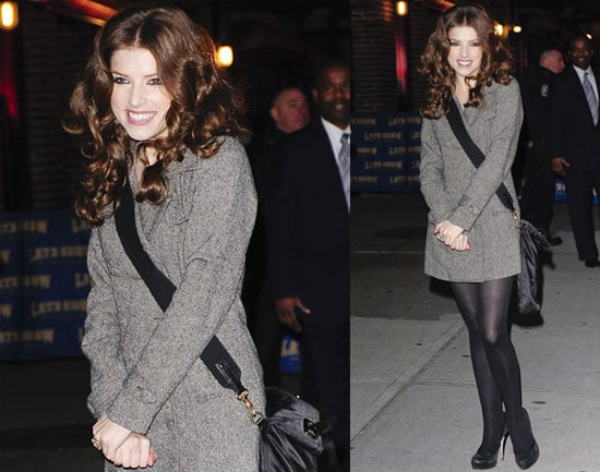 Photos of New Moon's Anna Kendrick Promoting Up in the Air on The Late Show