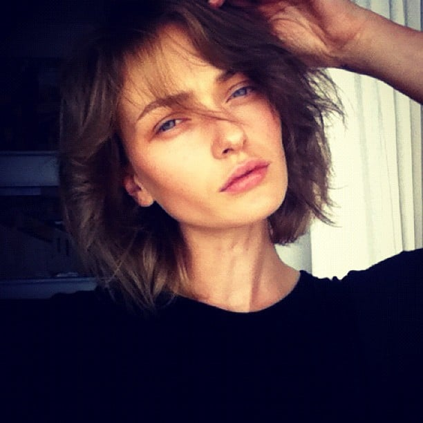 Model Annabella Barber went back to her darker roots after years of being blonde. Source: Instagram user annabellabarber