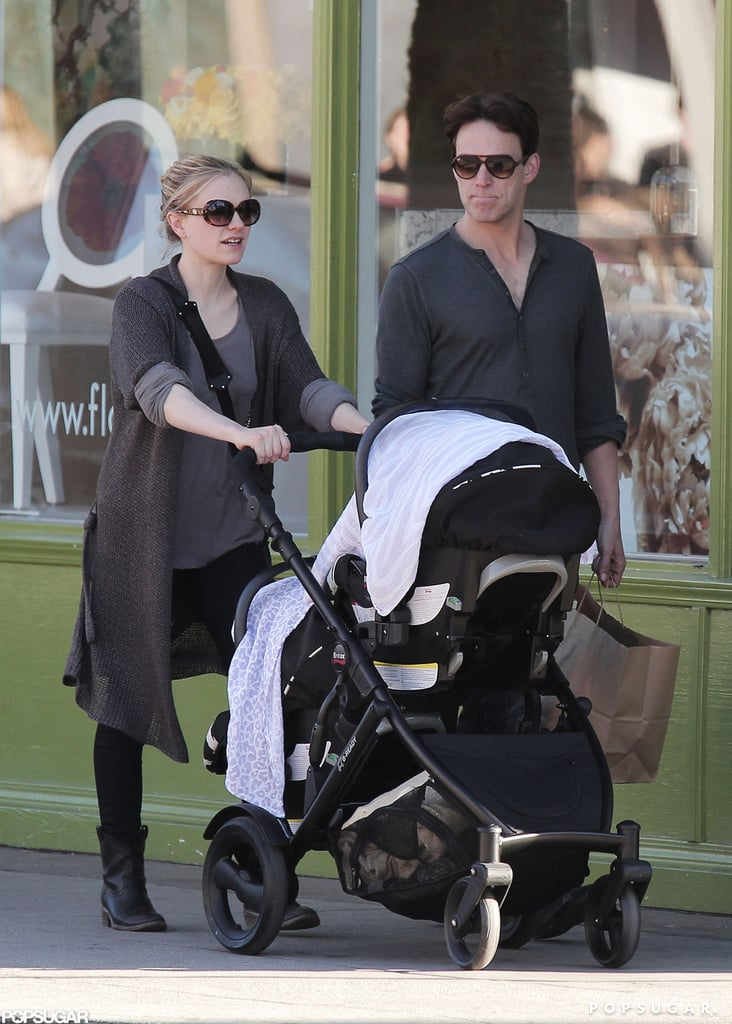 Anna Paquin and Stephen Moyer went on a shopping trip in LA with their newborn twins yesterday. Anna pushed a stroller and shielded the babies from the sun with a white blanket. Meanwhile, Stephen carried the couple's shopping bags while he walked alongside Anna. Although Anna and Stephen have not revealed the names of their children, they did reveal the gender of the twins, a boy and a girl. Stephen and Anna are currently gearing up for the filming of True Blood season six, which will premiere in the Summer. According to the couple's costar Joe Manganiello, the upcoming season will be even racier than in the past.