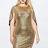ELOQUII Sequin Cape Dress