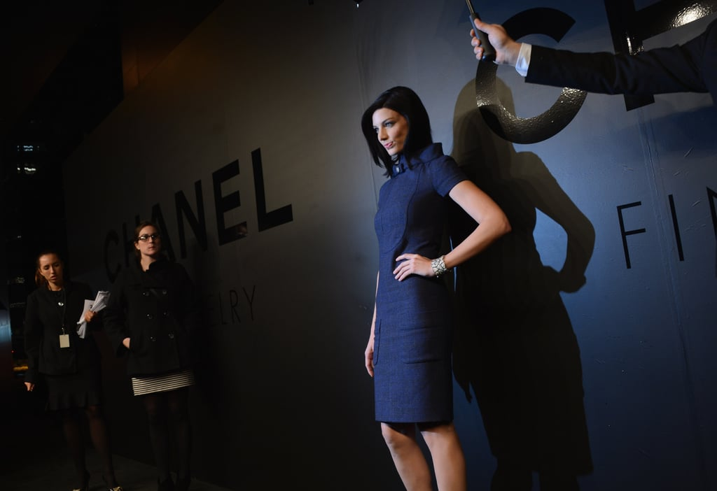 Jessica Pare posed for photos in Chanel.