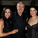 Courteney Cox, Wes Craven and Neve Campbell