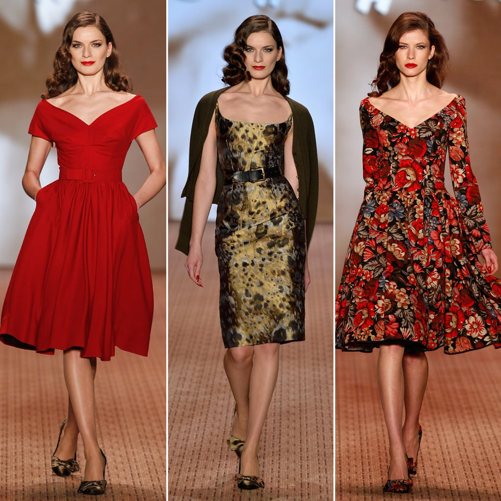Retro Dresses By Lena Hoschek At Berlin Fashion Week Popsugar Fashion Uk