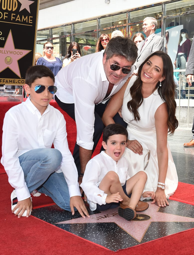 simon cowell and his family simon cowell s hollywood star ceremony