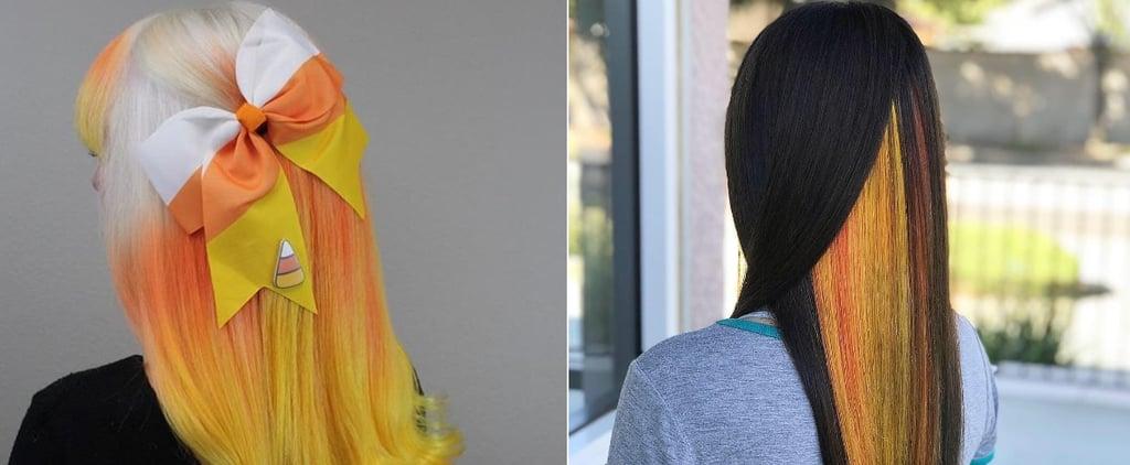 Candy Corn Hair Colour Trend