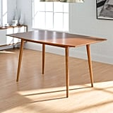 We Furniture 6 Person Mid Century Modern Wood Hairpin Table
