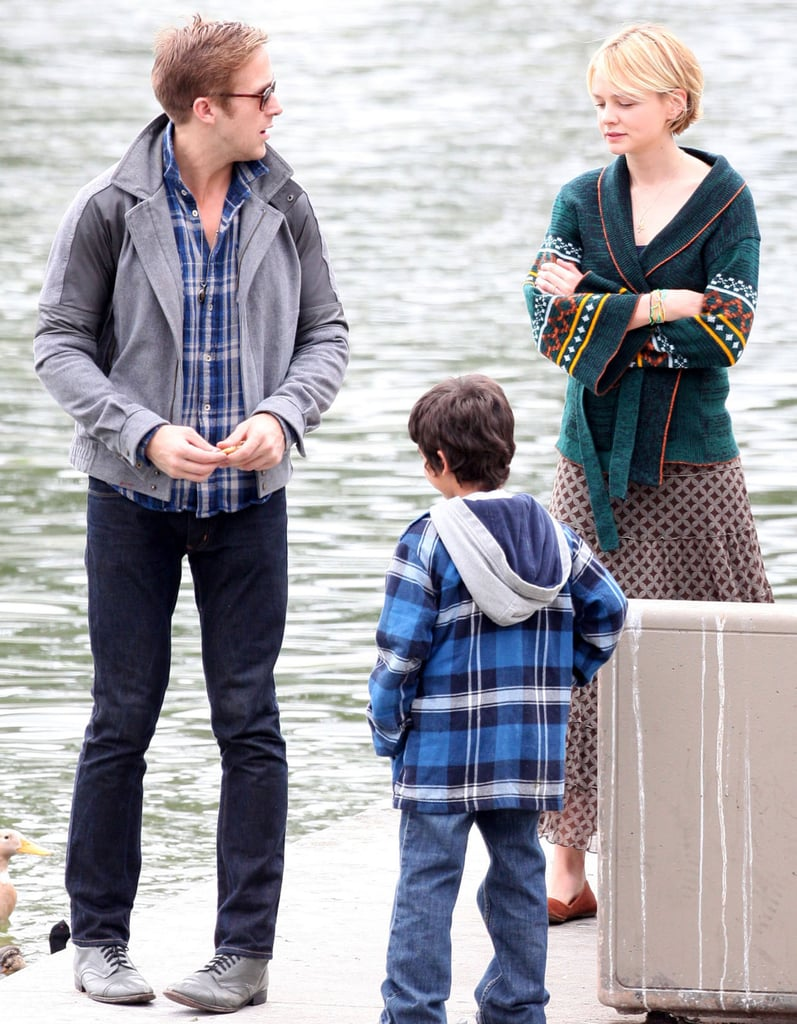 Pictures of Ryan and Carey on Set
