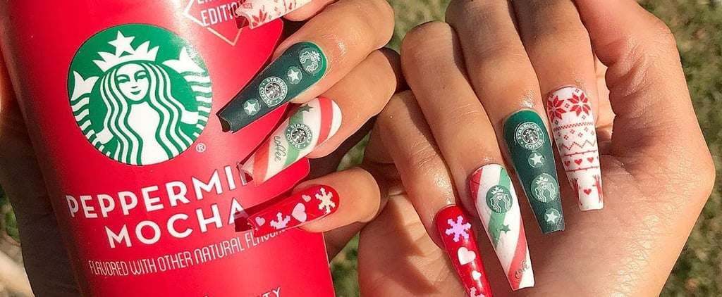 Starbucks-Inspired Holiday Manicures and Nail Art Ideas