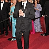 Penelope Cruz's other half, Javier Bardem, worked a traditional three piece suit on the night.