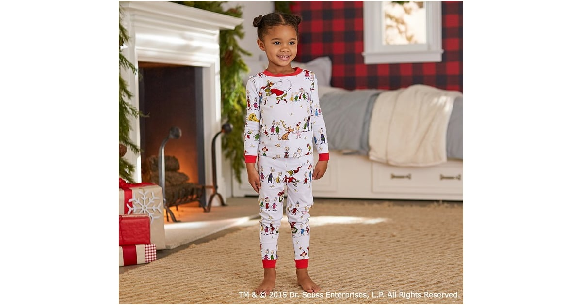 Pottery Barn Kids The Grinch Cotton Tight Fit Pajama