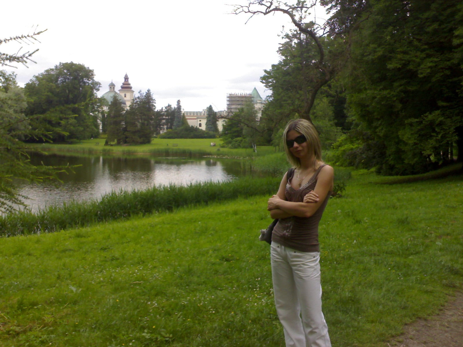 In the background the lake and the old castle in Krasiczyn :)