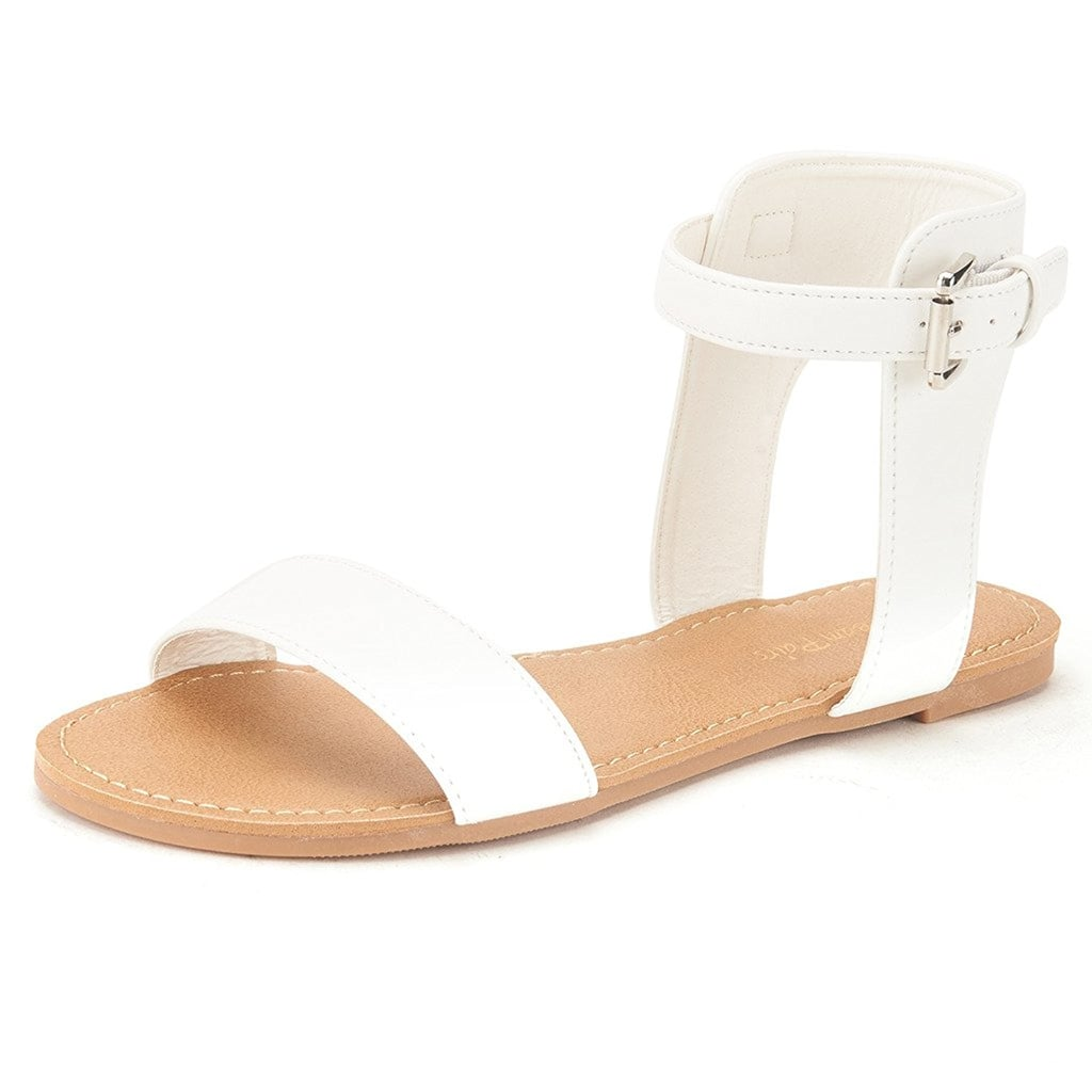 Dream Pairs Alexa Ankle Strap Buckle Flat Sandals