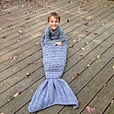 Crocheted Mermaid Tail Blanket