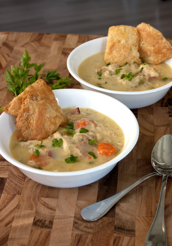 recipe: chicken pot pie filling with heavy cream [33]