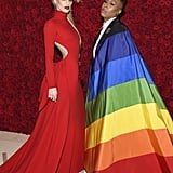 Pictured: Amber Heard and Lena Waithe