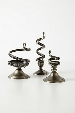 These tentilla candleholders ($36-$48) from Anthropologie make for great holiday-party hostess gifts. The octopus-inspired design is a little bit nautical, a little bit gothic, and majorly memorable. — Lindsay Miller, entertainment editor