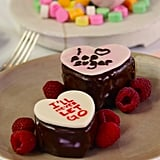 Conversation Heart Chocolate Cakes