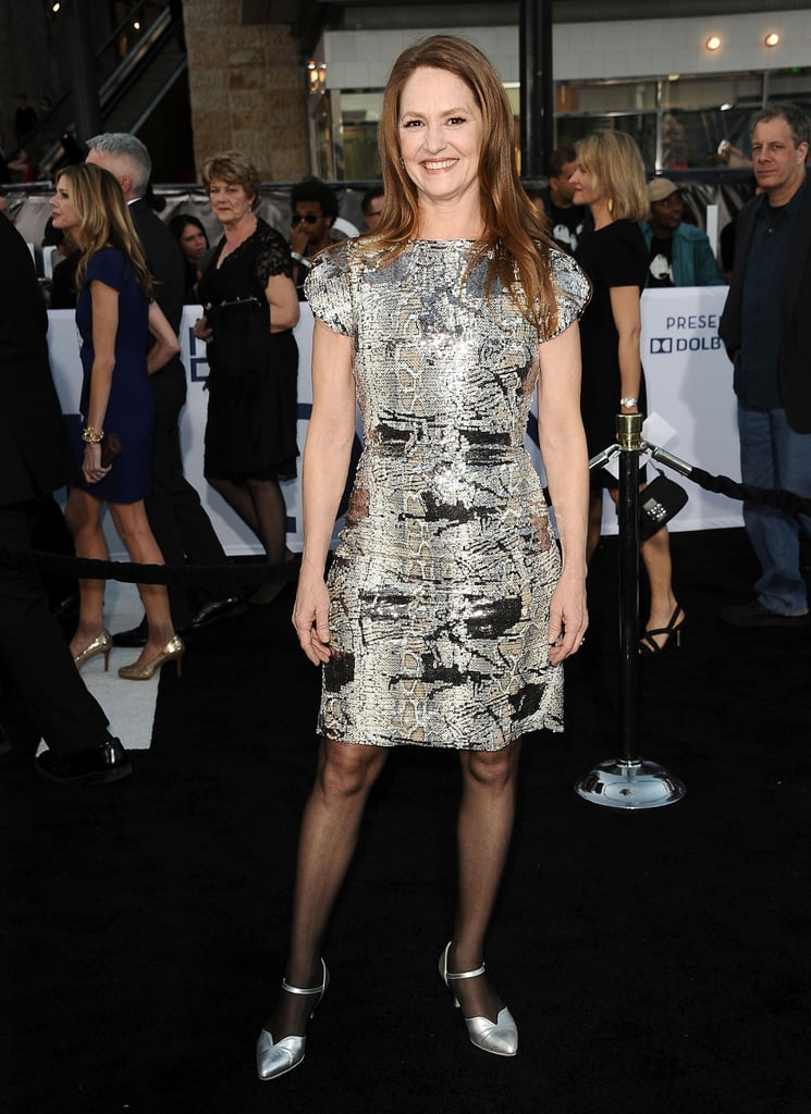 Melissa Leo smiled outside the Oblivion premiere in Hollywood.
