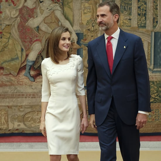 Queen Letizia Wearing a White Dress September 2016