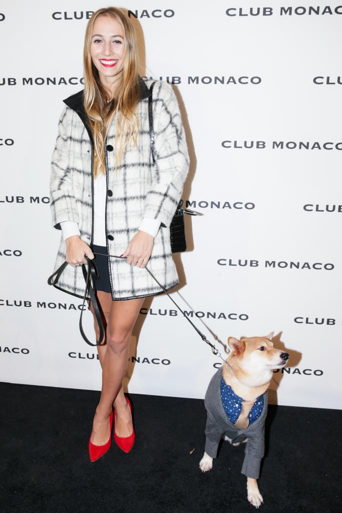 Harley Viera-Newton made an adorable pal in Menswear Dog at the Club Monaco Fifth Avenue flagship opening.