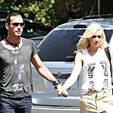 Gwen Stefani and Gavin Rossdale headed into a Burbank, CA, studio.