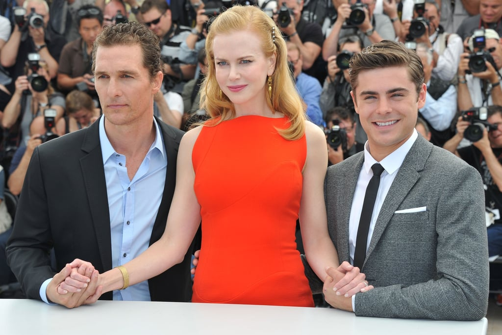 """The stars of The Paperboy were up early in France to promote their project at the Cannes Film Festival yesterday. Nicole Kidman, Zac Efron and Matthew McConaughey's morning photo call came after an appearance on the French show Le Grand Journal on Wednesday. Zac opened up about filming mostly in his underwear, saying, """"I don't think I was supposed to feel comfortable. It's like life. This character is supposed to be learning the ways of the world, and that can be very uncomfortable. But it's also exciting."""""""