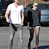 Miley Cyrus and Liam Hemsworth stepped out in LA.