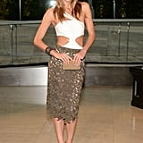 Jessica Hart's custom, cut-out Rachel Roy number surely turned heads.