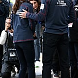 Prince William put his arm around Kate during the America's Cup World Series in England in July.