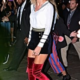 She's Even a Fan of Heeled Boots