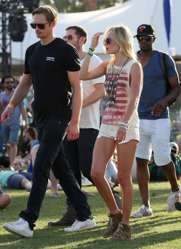 Kate Bosworth and Alexander Skarsgard checked out the 2011 Coachella scene together.