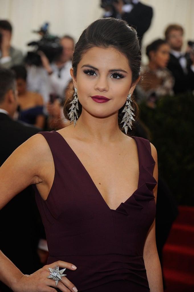 Selena Gomez's Berry Lip in May 2014