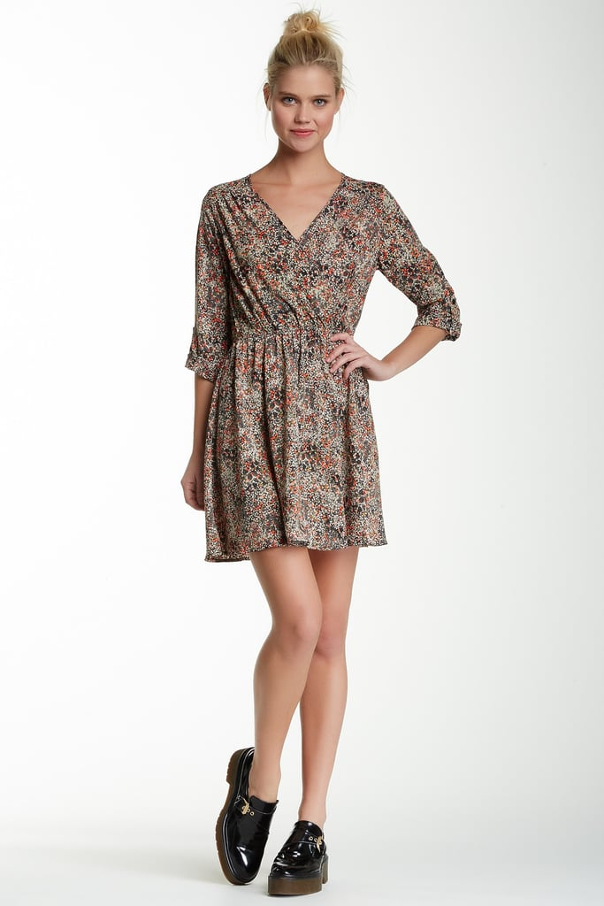 Lush Printed Wrap Dress