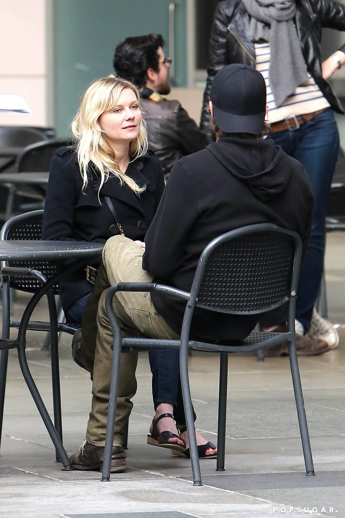 Kirsten Dunst and Garrett Hedlund had a couple's lunch at the LACMA.