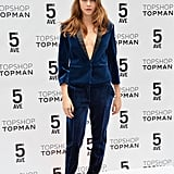 Cara Delevingne supported the grand opening of Topshop's new flagship store in NYC on Wednesday.