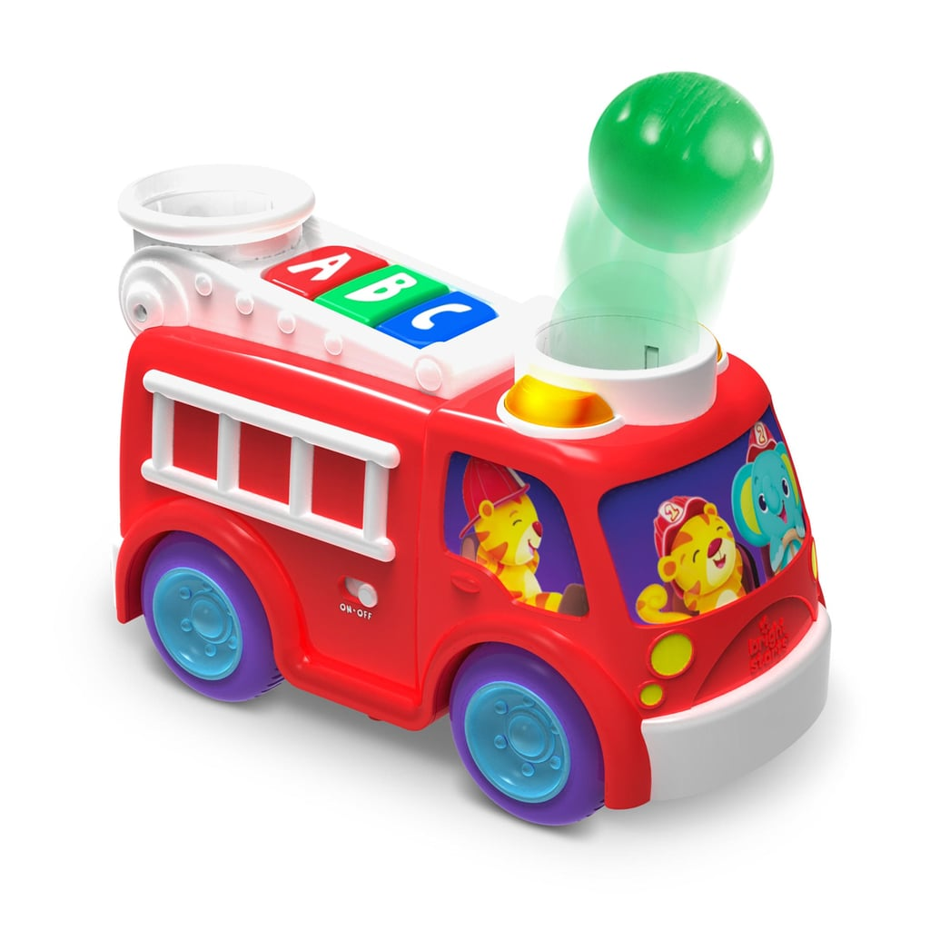 Bright Starts Roll and Pop Fire Truck Toy