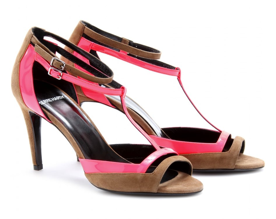 These two-toned futuristic soles are statement heels — wear them with tailored trousers or a dropwaist hem for maximum effect. Pierre Hardy Two-Tone Suede and Patent Leather Sandals ($835)