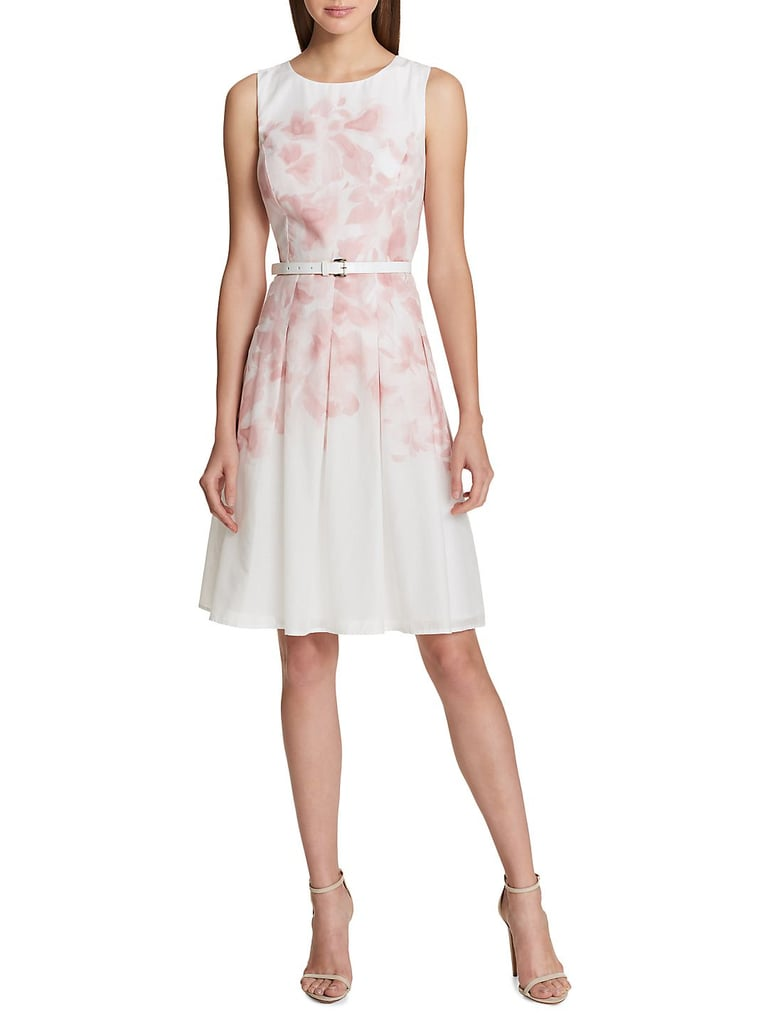 22c4bdc71f4d Tommy Hilfiger Belted Floral Fit-and-Flare Dress | Special Occasion ...