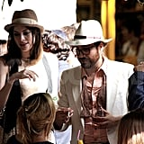 Sean Lennon and Charlotte Kemp Muhl at Mark Ronson's wedding.