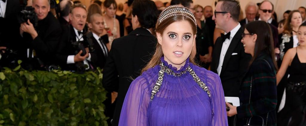 Princess Beatrice Purple Dress at the 2018 Met Gala