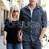Pregnant Reese Witherspoon and her husband Jim Toth were together.