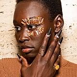 Halpern's Matte Glittered Nails at LFW Autumn 2020