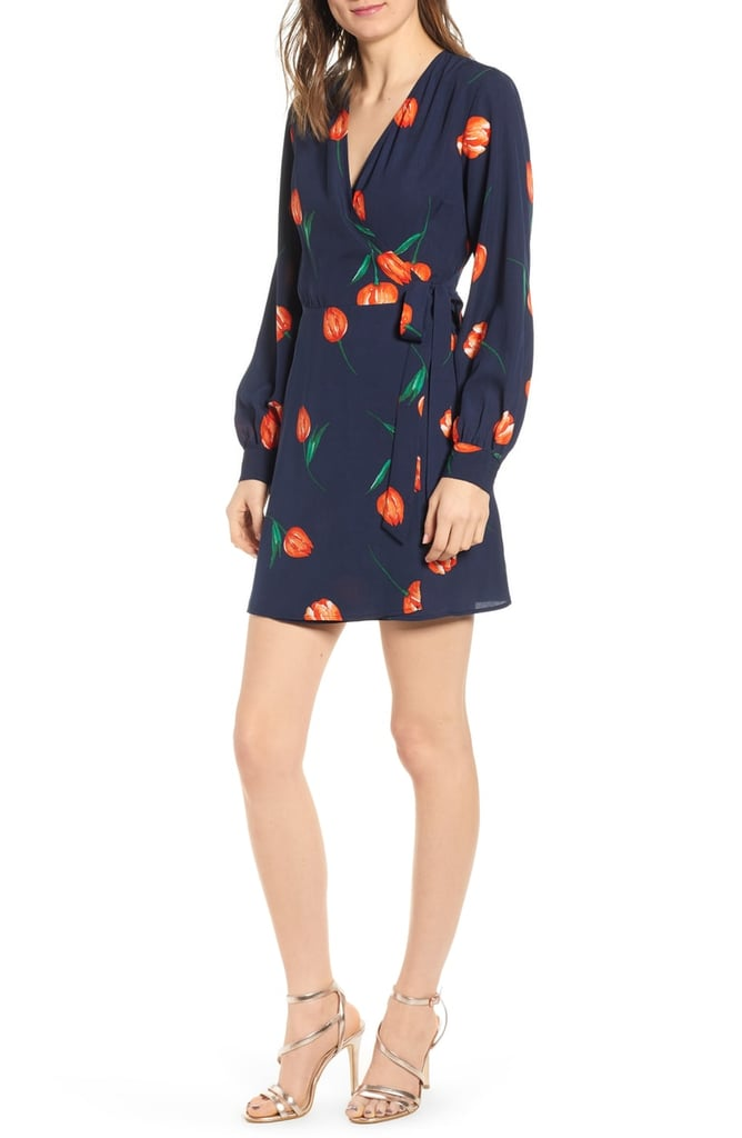 All in Favour Floral Wrap Mini Dress