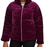 Climate Concepts Crushed Velvet Bubble Jacket