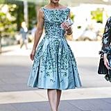 Katie Holmes Wearing a Zac Posen Dress