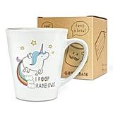 Unicorn I Poop Rainbows 12oz Latte Mug Cup ($13)