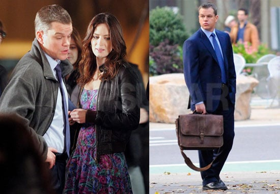 Photos of Matt Damon Filming The Adjustment Bureau in NYC
